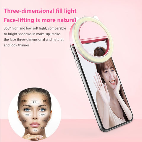 Image of Mobile Phone Selfie Ring Light