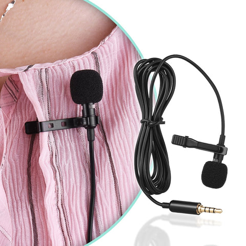 Image of Mini Portable Clip-on Lapel Microphone