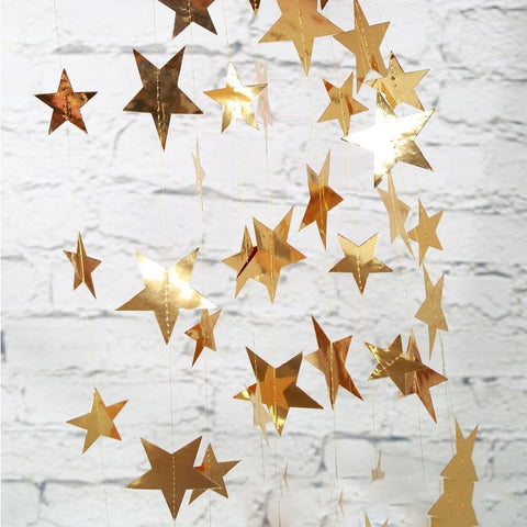 Star Patterned Paper Garland