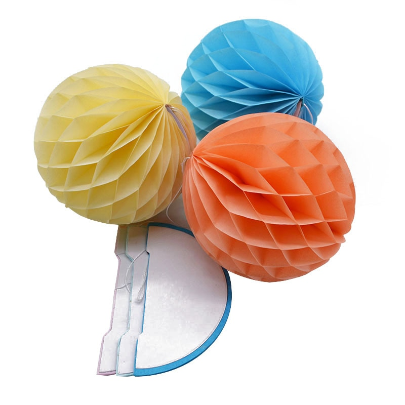 Patterned Paper Honeycomb Ball String
