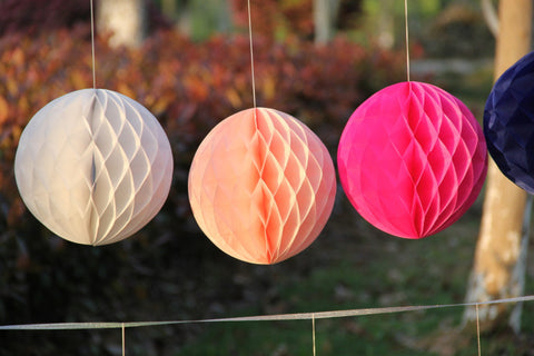Image of Patterned Paper Honeycomb Ball String