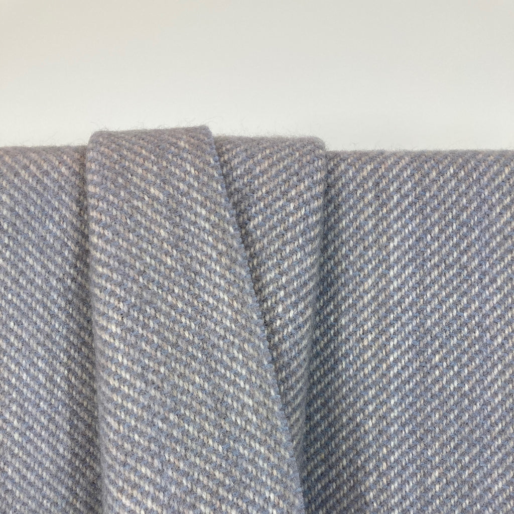 Milnsbridge Blanket - 100% Wool - Blue/Grey