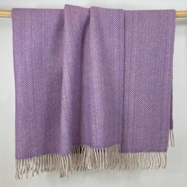 Milnsbridge Blanket - 100% Wool - Purple