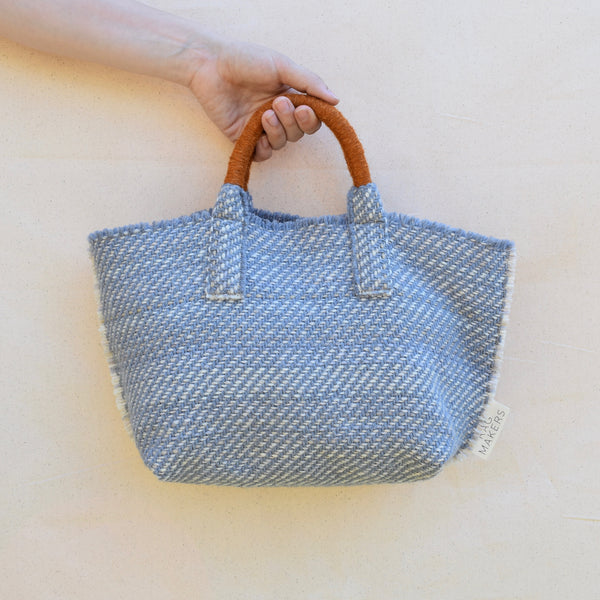 Milnsbridge Alice - Handwoven Woollen Bag - Blue