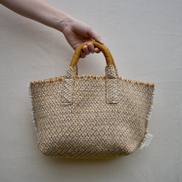 Milnsbridge Alice - Handmade Woollen Bag - Mustard