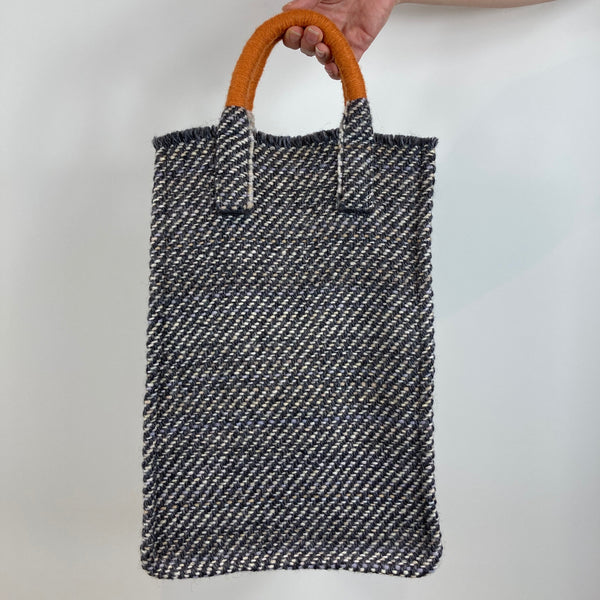 Milnsbridge Edith - Handmade Woollen Bag - Grey