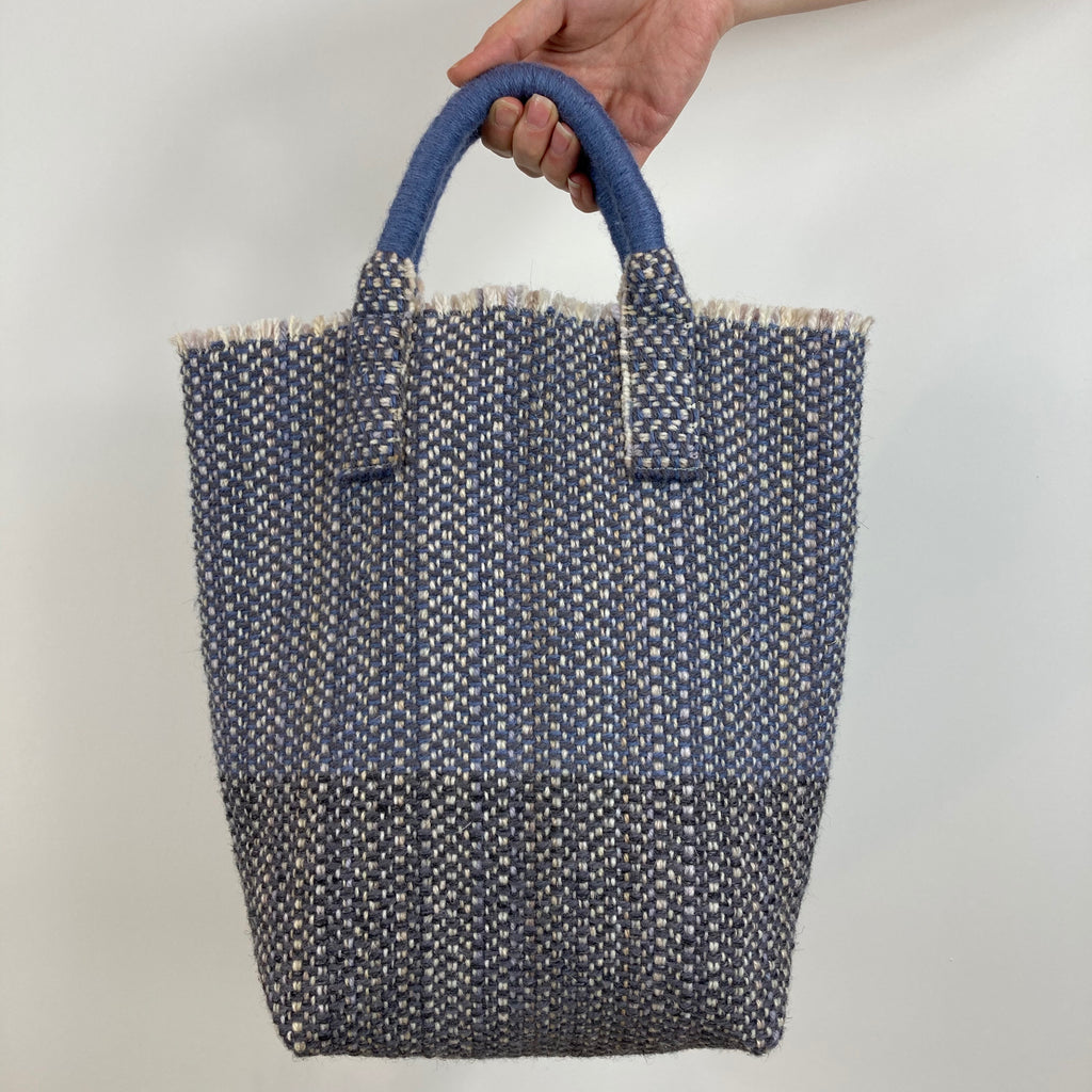 Milnsbridge Ethel - Handmade Woollen Bag - Blues