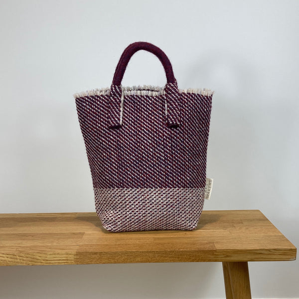 Milnsbridge Ethel - Handmade Woollen Bag - Blackberry