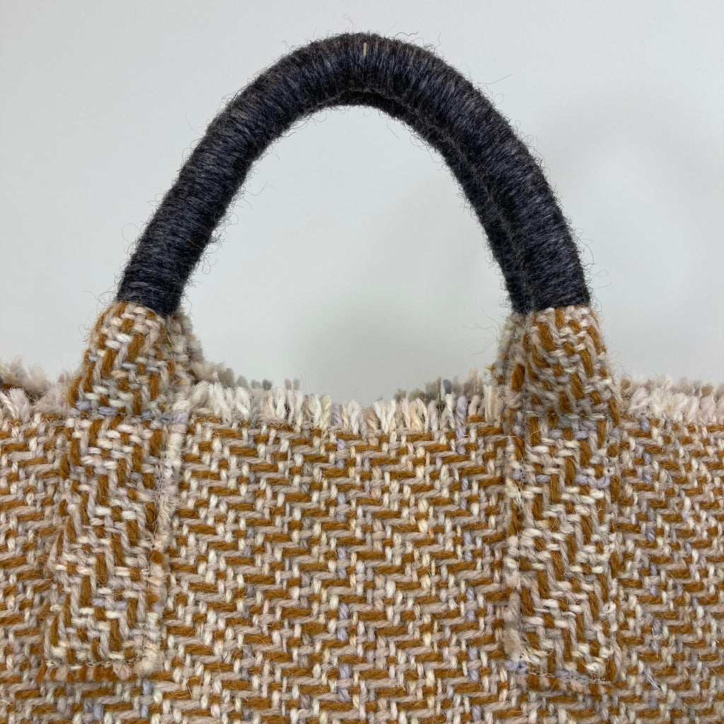 Milnsbridge Ethel - Handmade Woollen Bag - Mustard & Grey