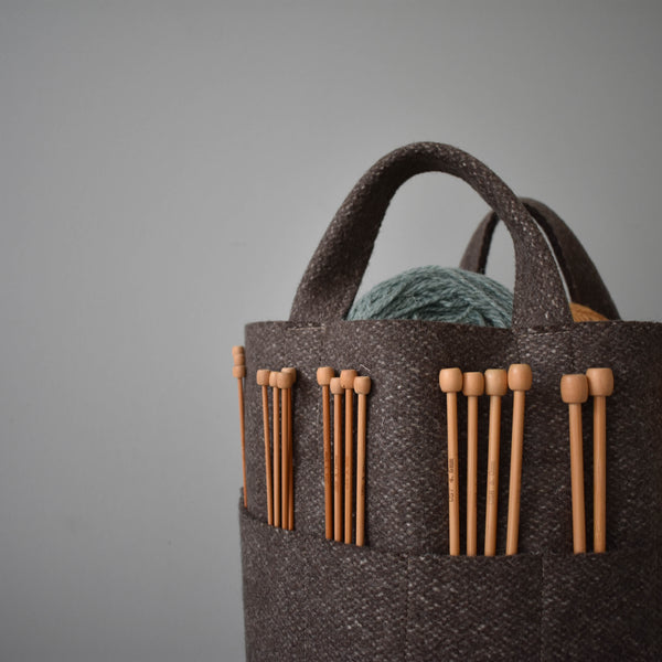 Stanningley - Handmade 100 % Wool Project Basket - Large