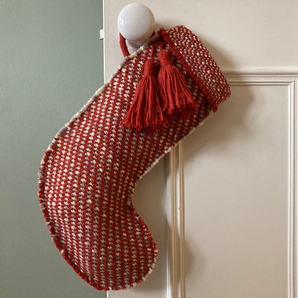 Milnsbridge Handmade Woollen Christmas Stocking - Red