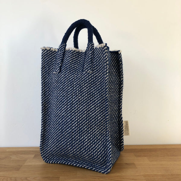 Milnsbridge Edith - Handmade Woollen Bag - Blue