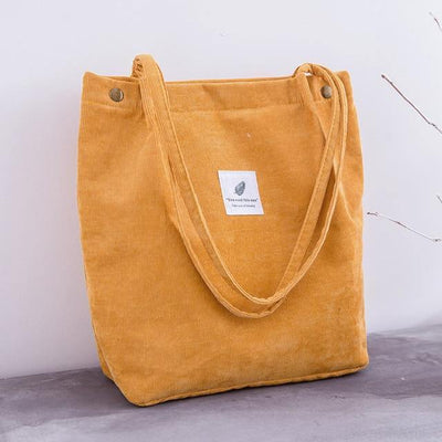 Women Corduroy Shopping Bag - CHIC - U