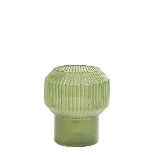 Ripple vase green small