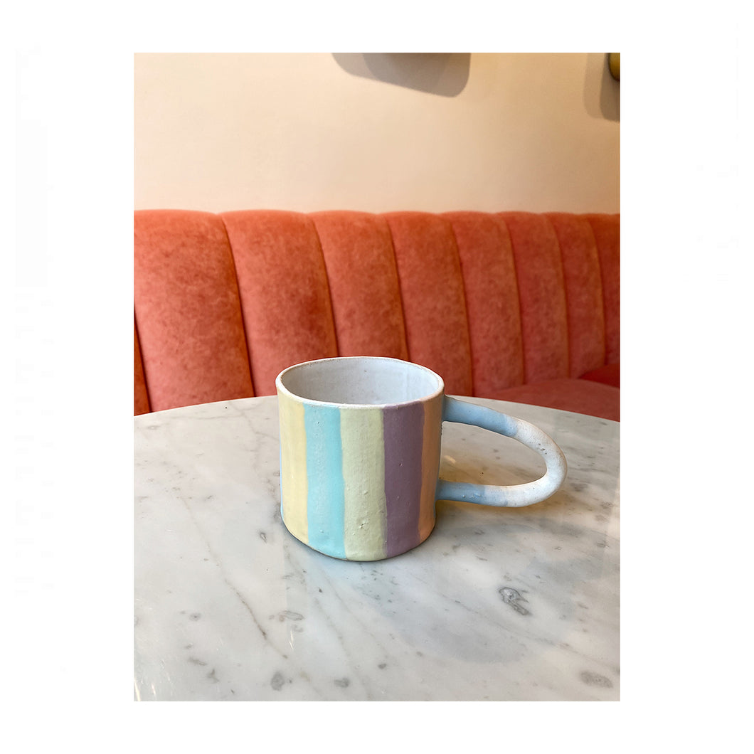 TheClayPlay striped mug