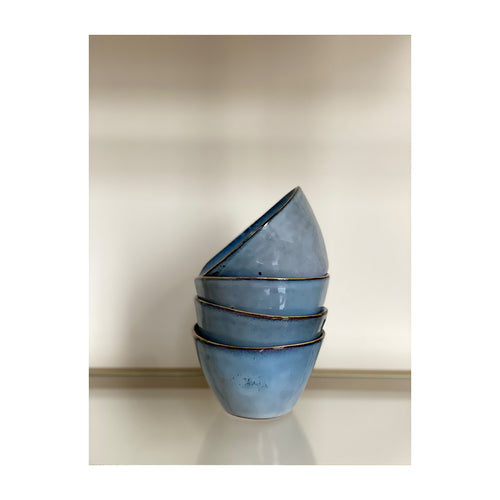 Ceramic bowl small blue
