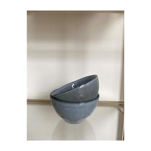 Ceramic bowl large blue