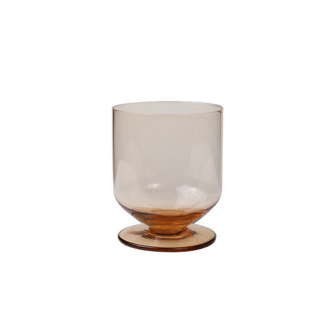 Goblet glass brown