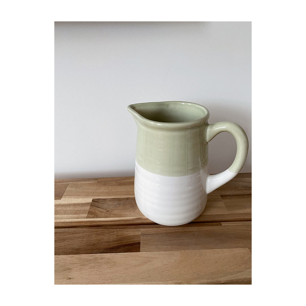 Carafe Ted white / green