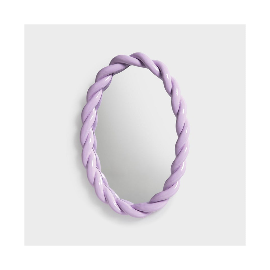 Mirror braid oval lilla