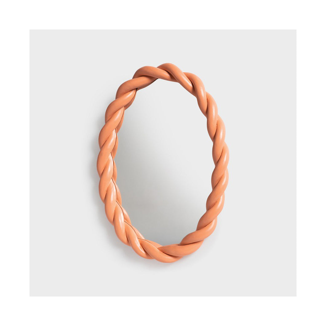 Mirror braid oval pink