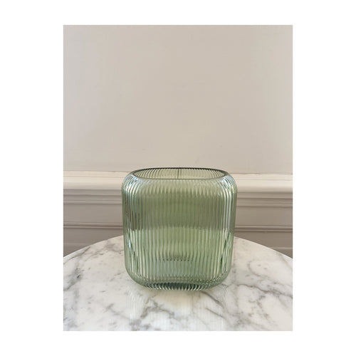 Ripple vase soft green