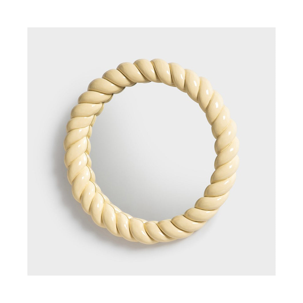 Mirror braid round yellow