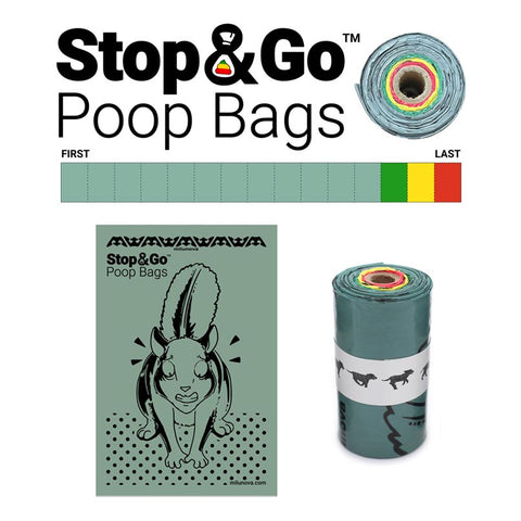 Milunova Stop and Go Poop Bags Pet Waste with Stoplight Colors