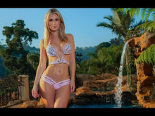Load and play video in Gallery viewer, Video of Bling, rhinestone, crystal barbie pink bikini