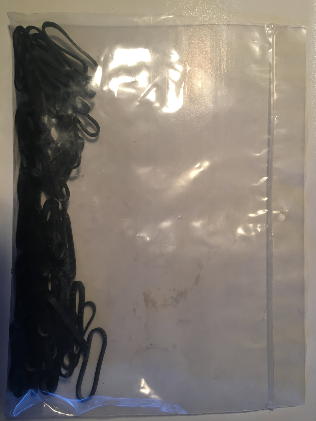 Bag of 200 Black Small Shipping Rubber Bands