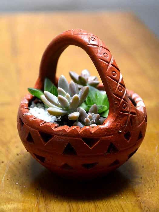 Succulent Clay Basket