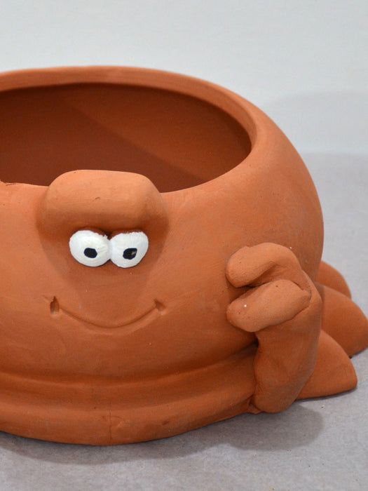 Pet Themed Crab Terracotta Pot