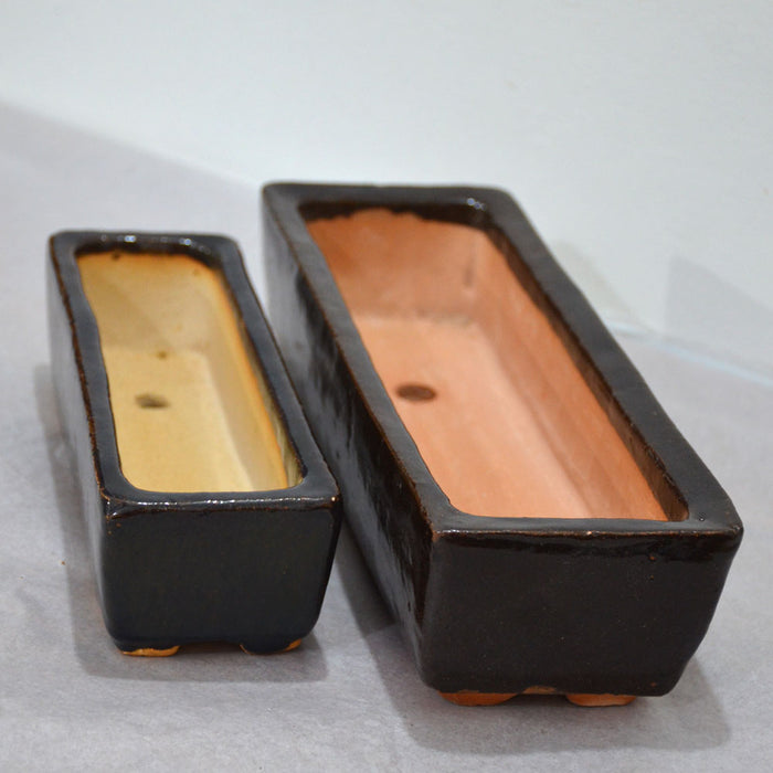 Rectangular Ceramic Pots (Set of 2)