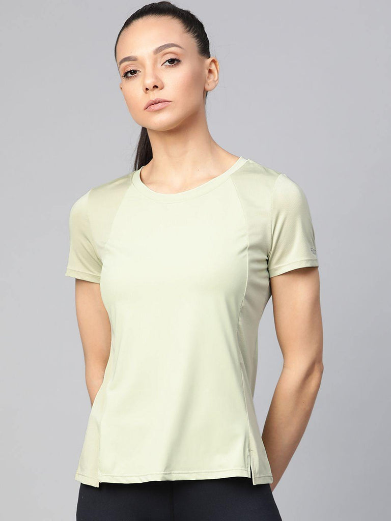 Women's  Solid Round Neck sports T-shirt - fitkinstore
