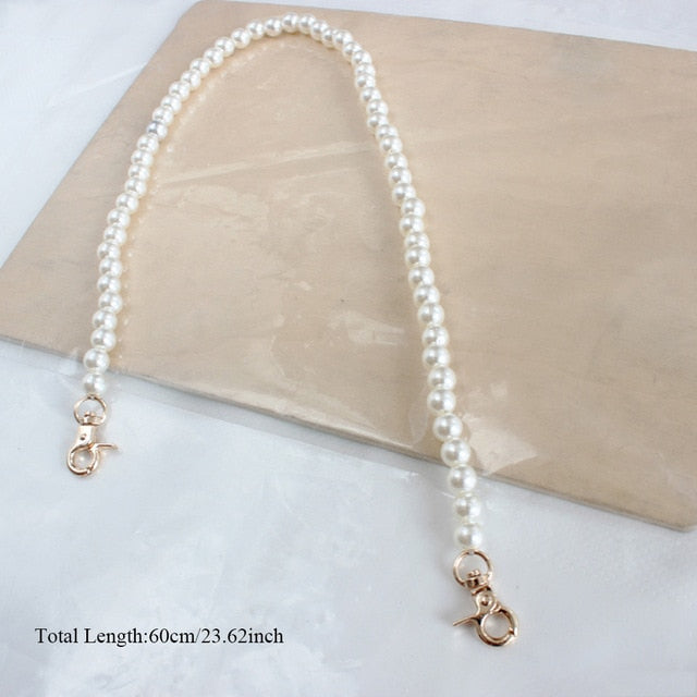 Faux Pearl Bag Charm Chain