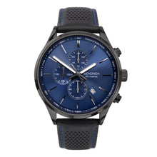 Load image into Gallery viewer, Sekonda Men's Black Leather Strap Watch