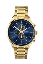 Load image into Gallery viewer, Sekonda Men's Gold Plated Dual Time Bracelet Watch