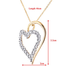 Load image into Gallery viewer, Heart Shape Diamond Pendant In UK Hallmarked 9ct Yellow Gold