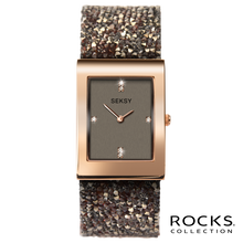 Load image into Gallery viewer, Seksy Rocks® Rose Gold Plated Bracelet Watch