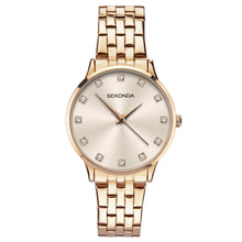 Load image into Gallery viewer, Sekonda Women's Rose Gold Bracelet Watch