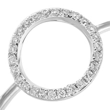 Load image into Gallery viewer, Diamond Micro Set Circle Statement Ring In 9ct White Gold