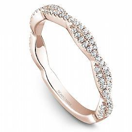 18k Rose Gold Swirl Style Diamond Band STB20-1RS-D