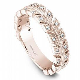 18k Rose Gold Modern Style Diamond Band STB3-1RS-D