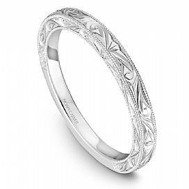 18k White Gold Vintage Inspired Band STC1-3WME