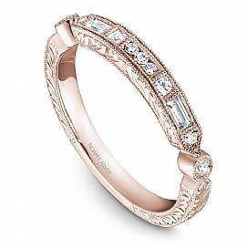 18k Rose Gold Vintage Inspired Band STC1-4RSE