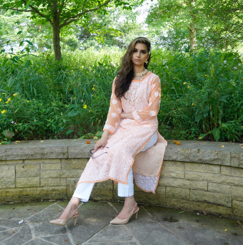 Peachy Chic Kurta