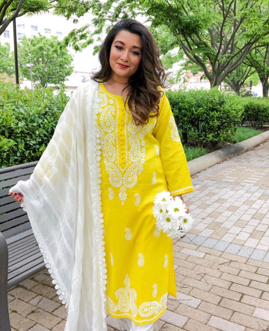 Daisy Yellow Kurta