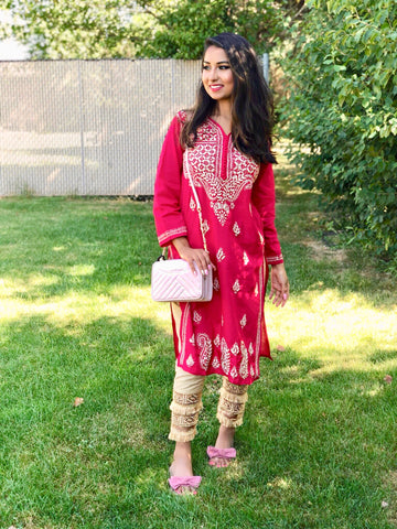 French Rose Kurta