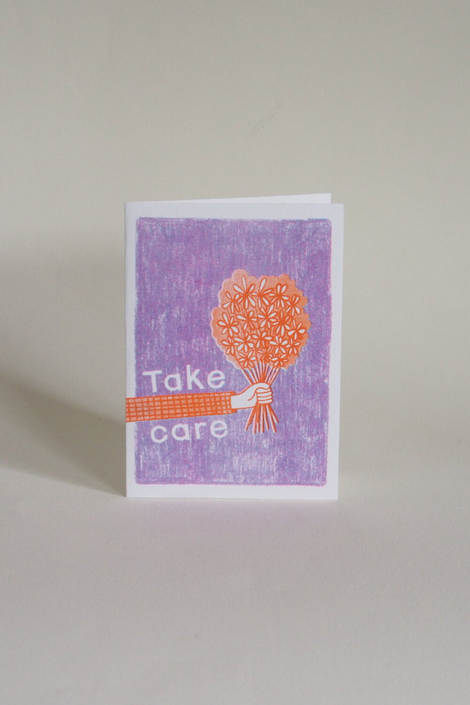 Neighbourhood Press Greeting Card - Take Care - Kura Studio