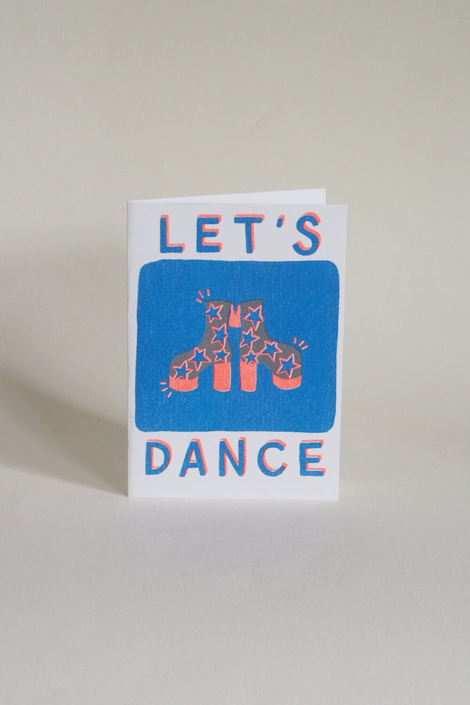 Neighbourhood Press Greeting Card - Let's Dance - Kura Studio